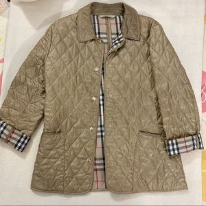 Burberry Gold Quilted Jacket